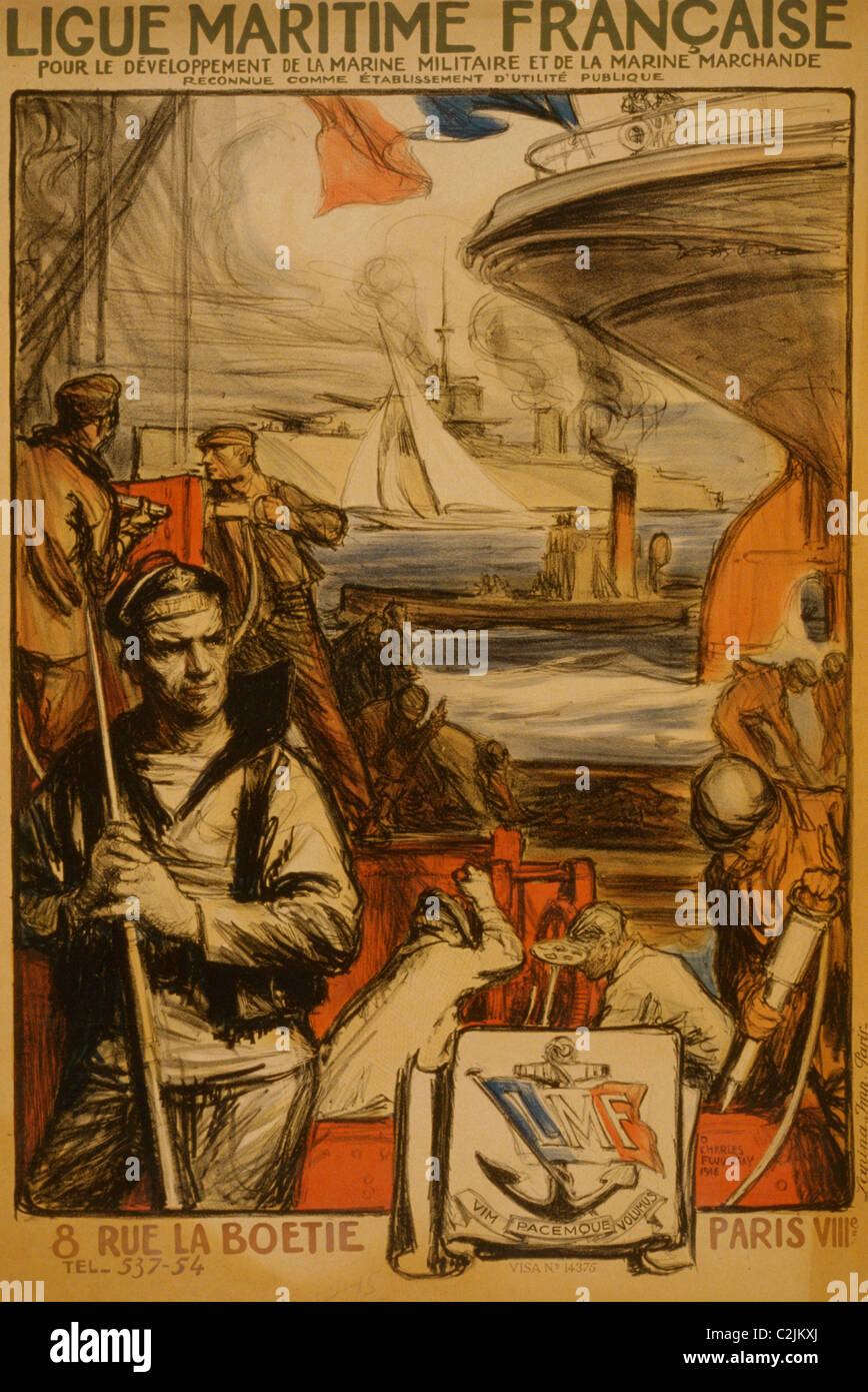 Französische Marine Liga für die Entwicklung der Marine Stockbild