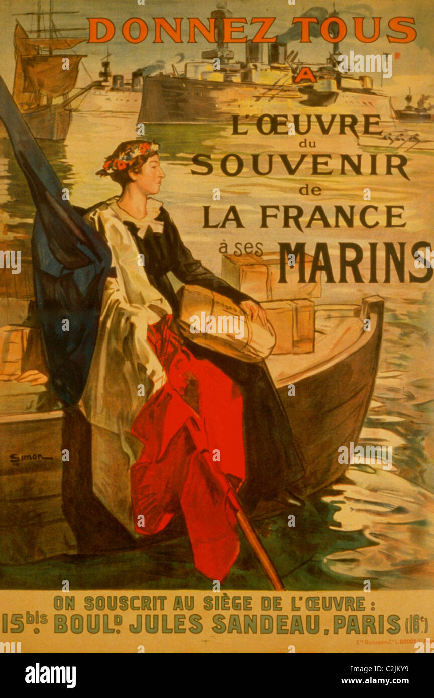 Alle geben an den Fonds zur Erinnerung an die französischen Matrosen. Stockbild