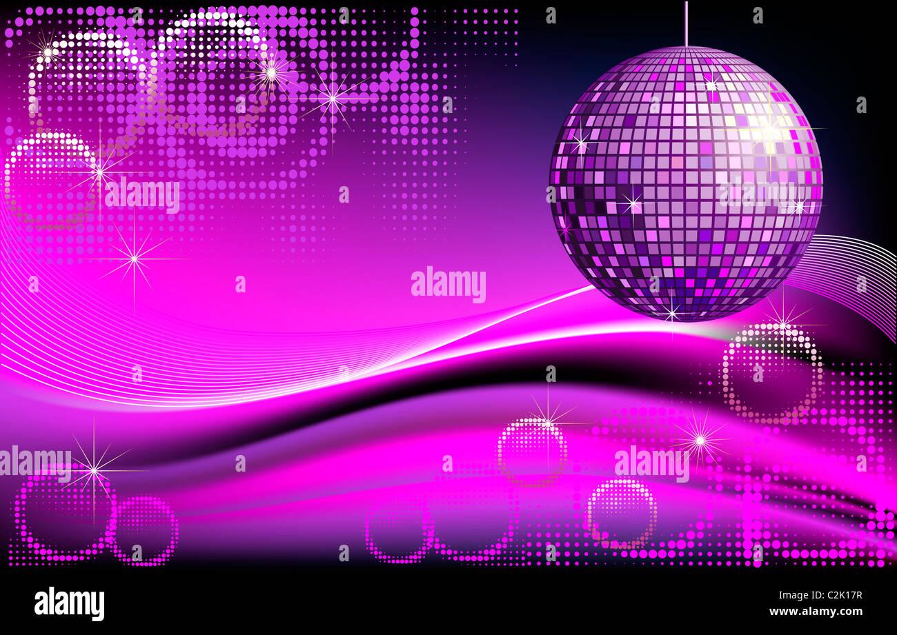 Design Spiegel Hal : Disco hintergrund mit spiegel ball und abstrakt wellen und