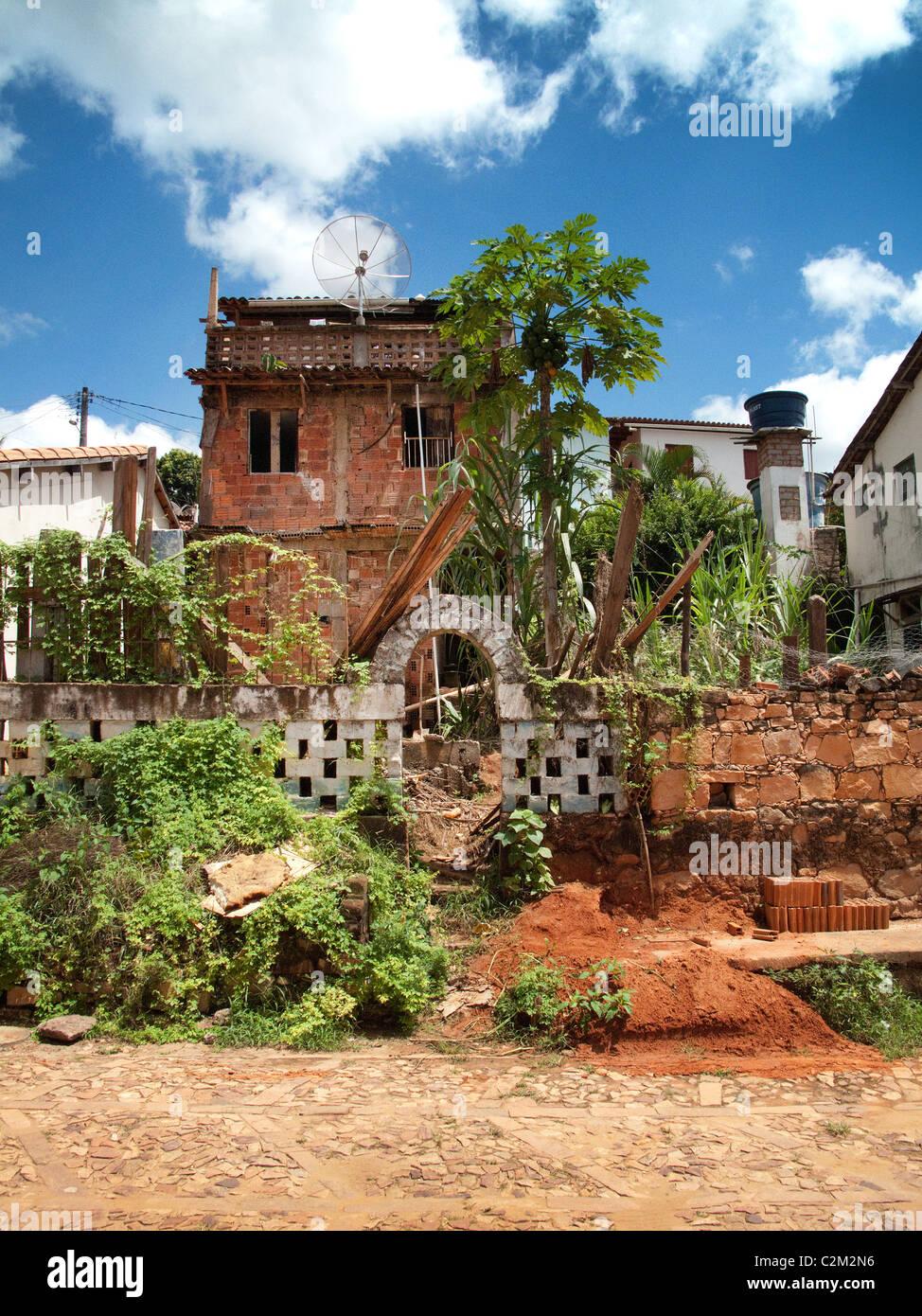 Haus im Bau in Lencois, Bahia, Brasilien Stockbild