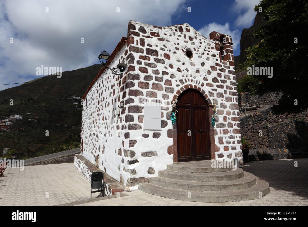 Kapelle im Dorf Masca, Kanarische Insel Teneriffa, Spanien Stockbild