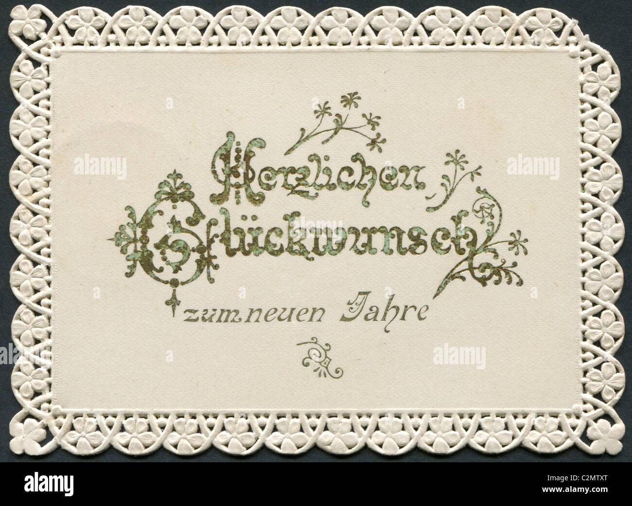 Alte deutsche Gruß. Frohes neues Jahr! Stockfoto, Bild: 36108656 - Alamy