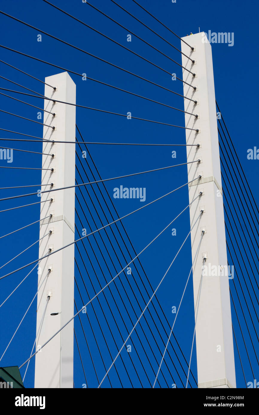 Die Queen Elizabeth II Bridge Dartford Fluss Themse M25 London England uk gb überschreiten Stockbild