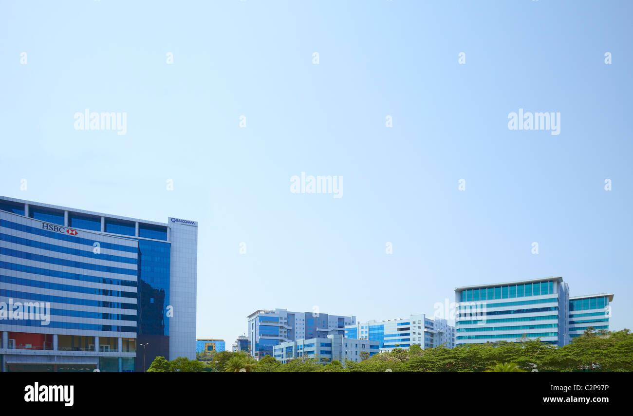 Indien, Hyderabad, Entwicklung, Wachstum, Business, Farben, Farbe, lebendige, Straße, neue, alte, Holi, Finanzen, Stockfoto