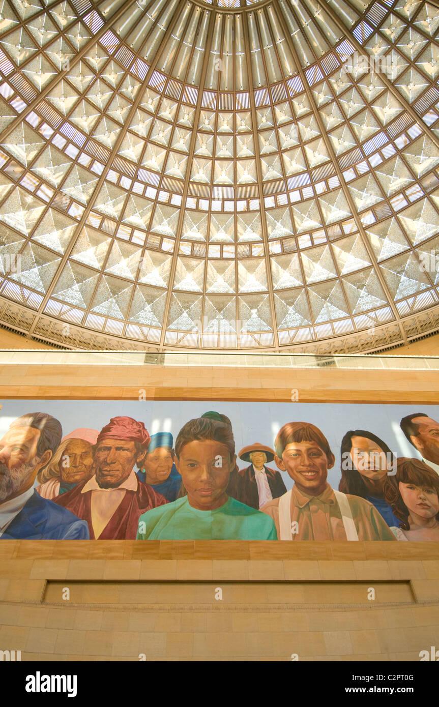 Wandbild im Union Station Los Angeles Downtown südlichen Kalifornien USA Stockfoto