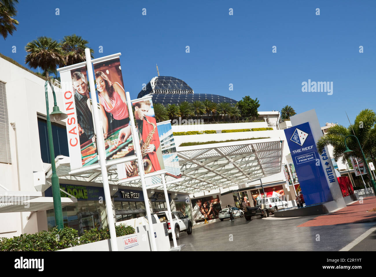 Das Reef Hotel Casino. Cairns, Queensland, Australien Stockbild