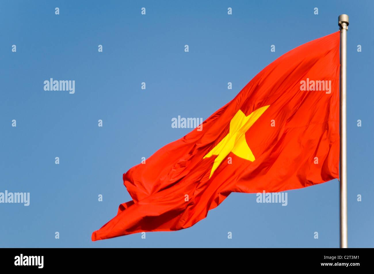 Gelben mit fahne stern rot Flagge Grün,