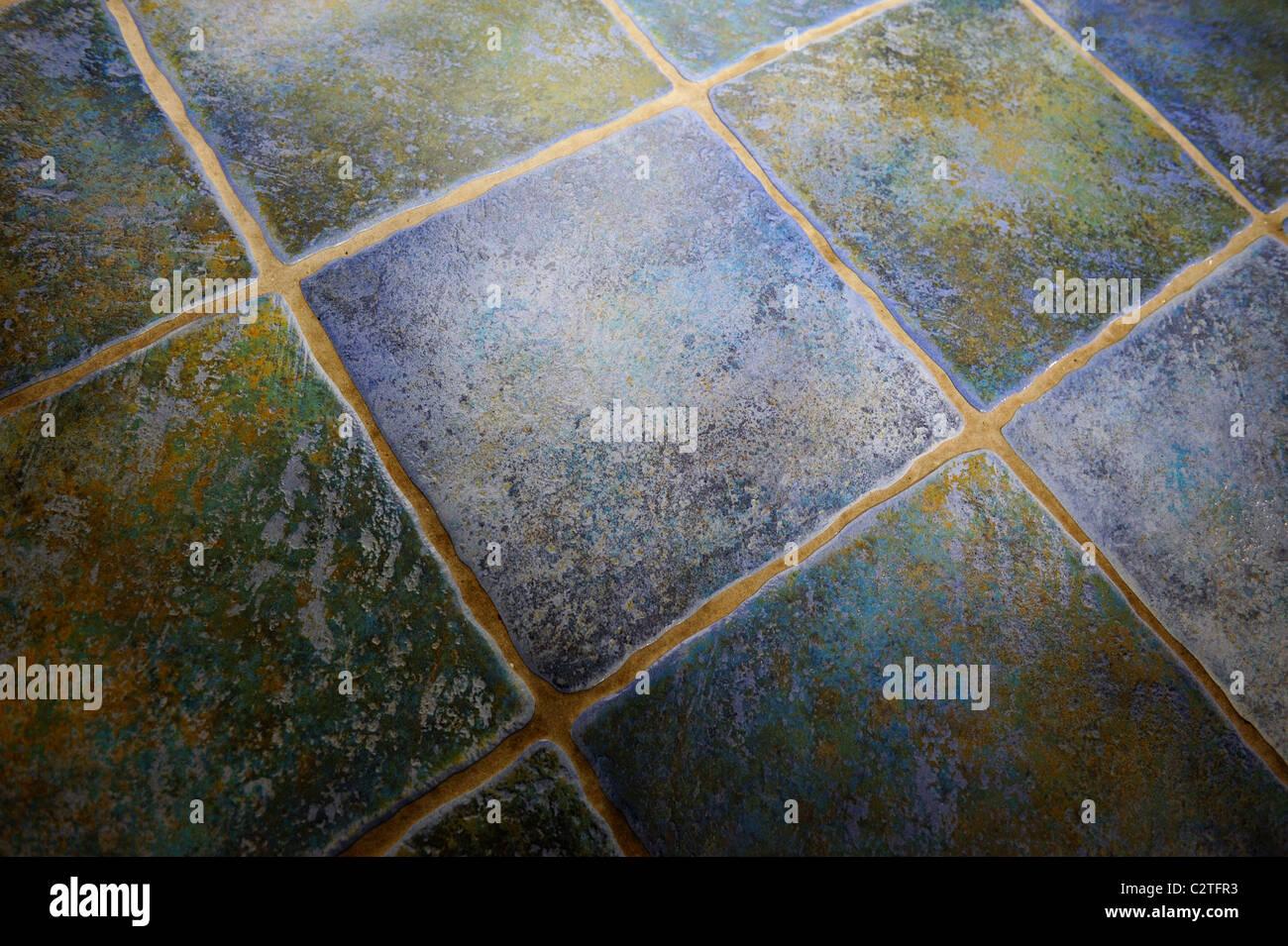 blaue Küche Bodenfliesen aus England uk Stockfoto, Bild: 36189303 ...
