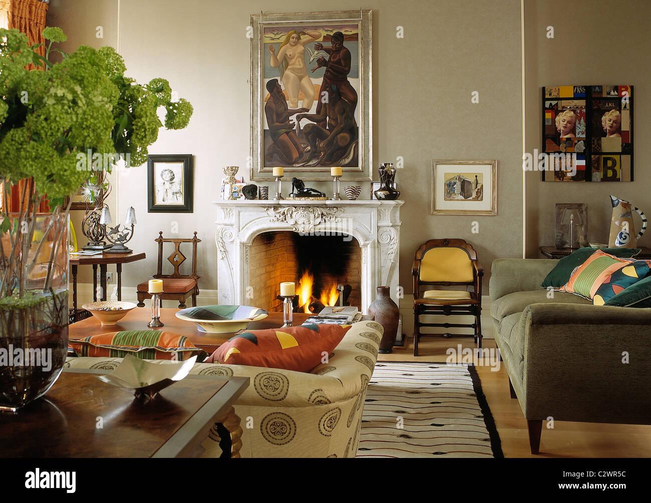 Moderne Kunst Sammler Home Wohnzimmer