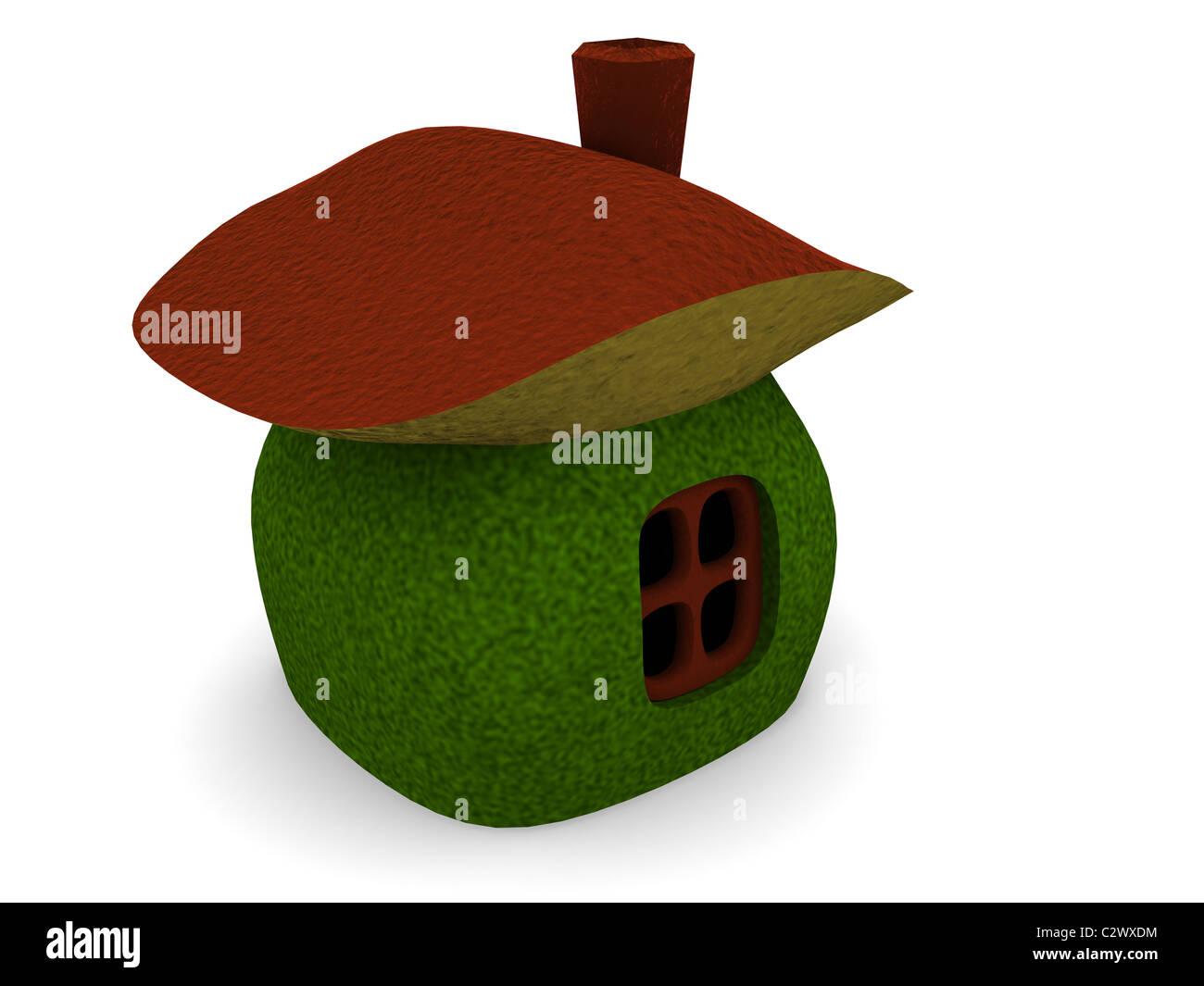 Pilz-Haus. 3D Stockbild