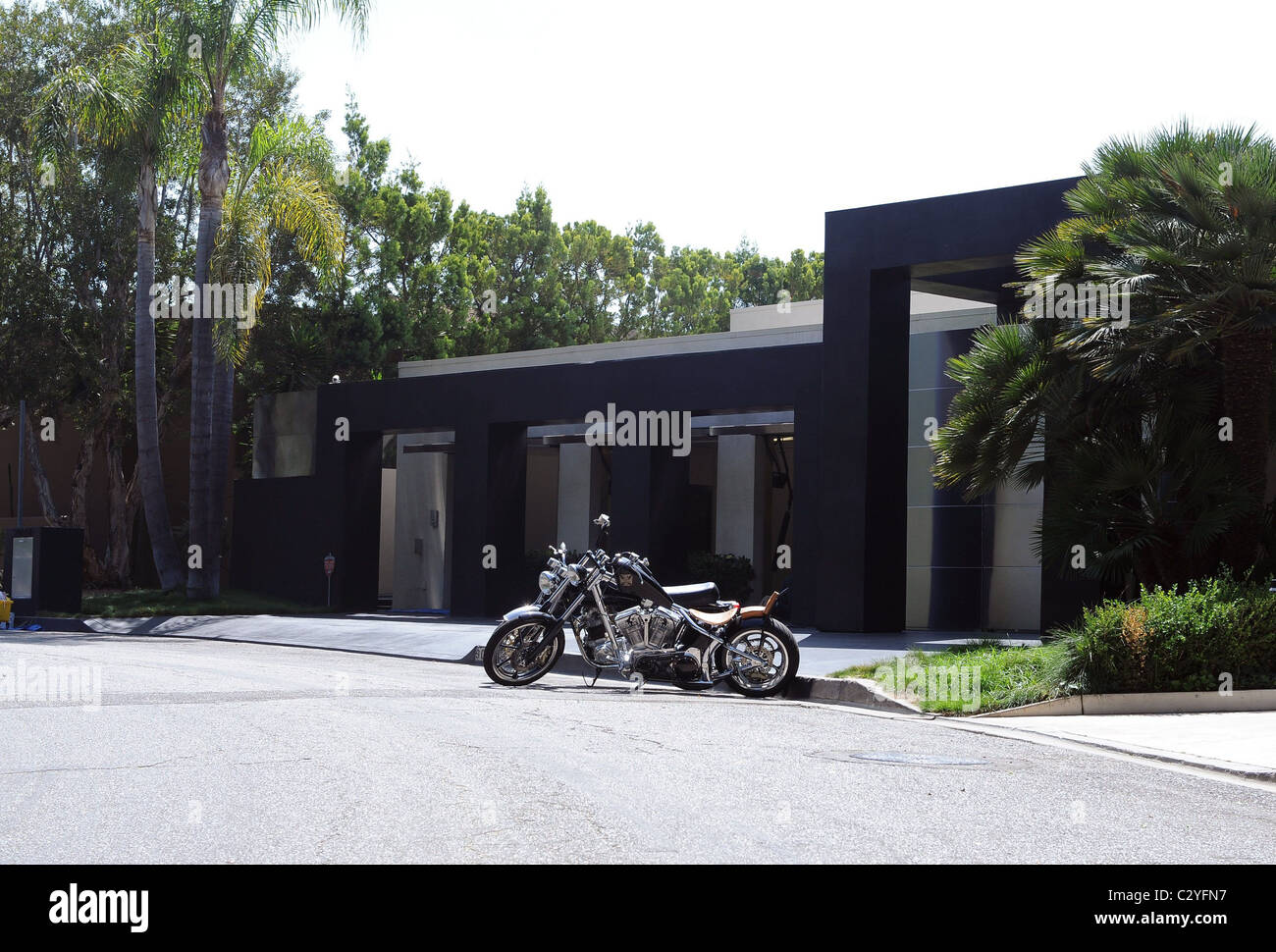 keanu reeves haus und motorrad los angeles kalifornien stockfoto bild 36255107 alamy. Black Bedroom Furniture Sets. Home Design Ideas