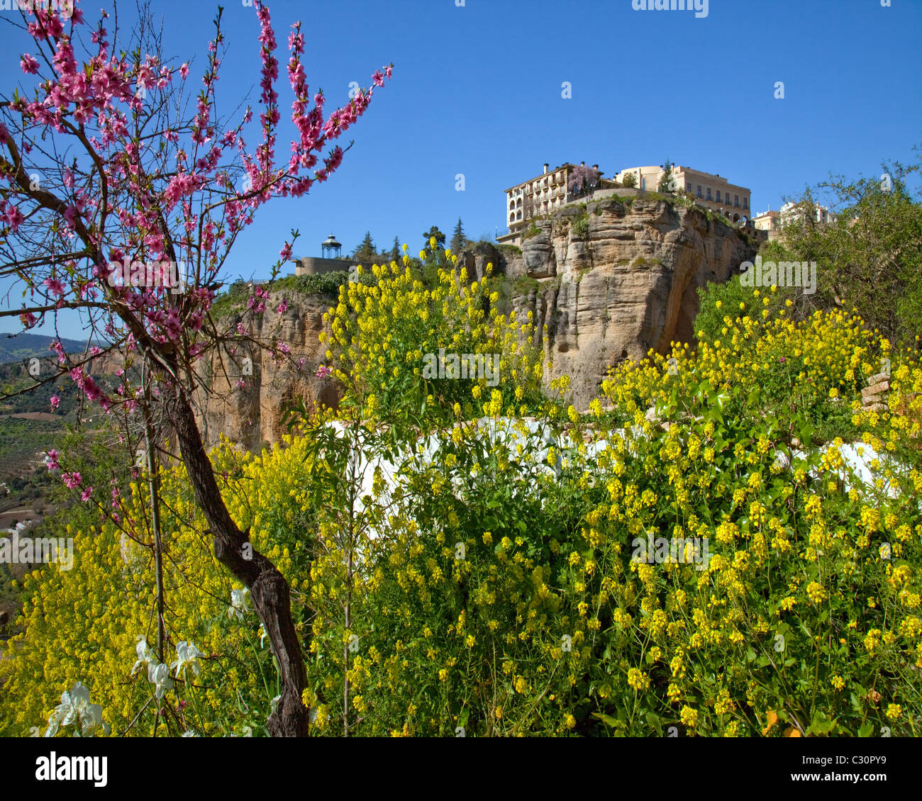 Es-Andalusien: historische Ronda Stockbild