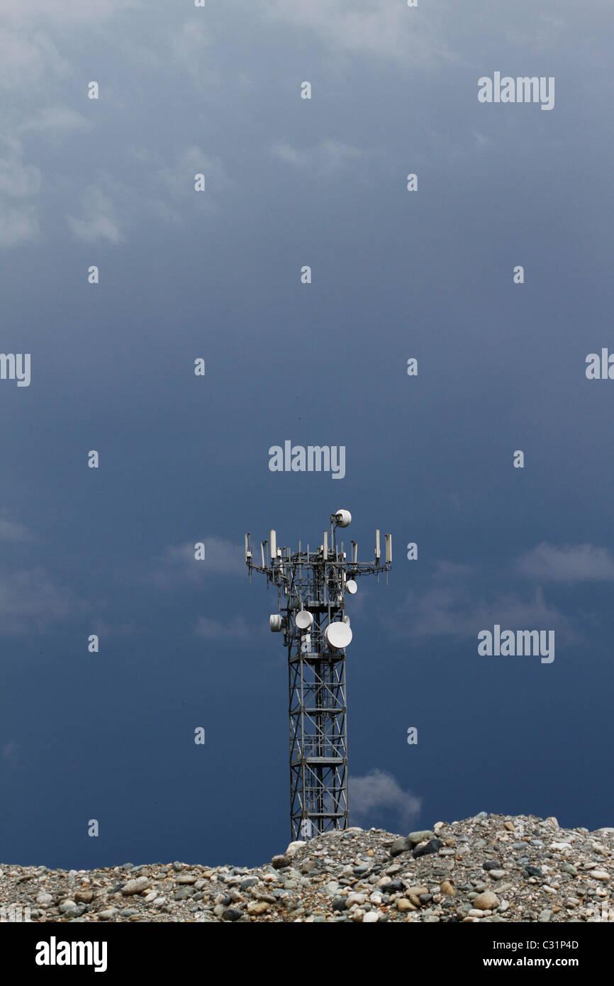 Antennenstruktur in der Nähe von turin Stockfoto