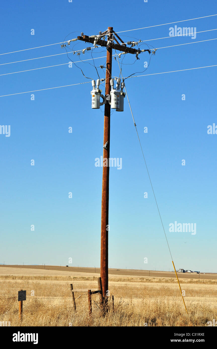 elektrische Pol Stockbild