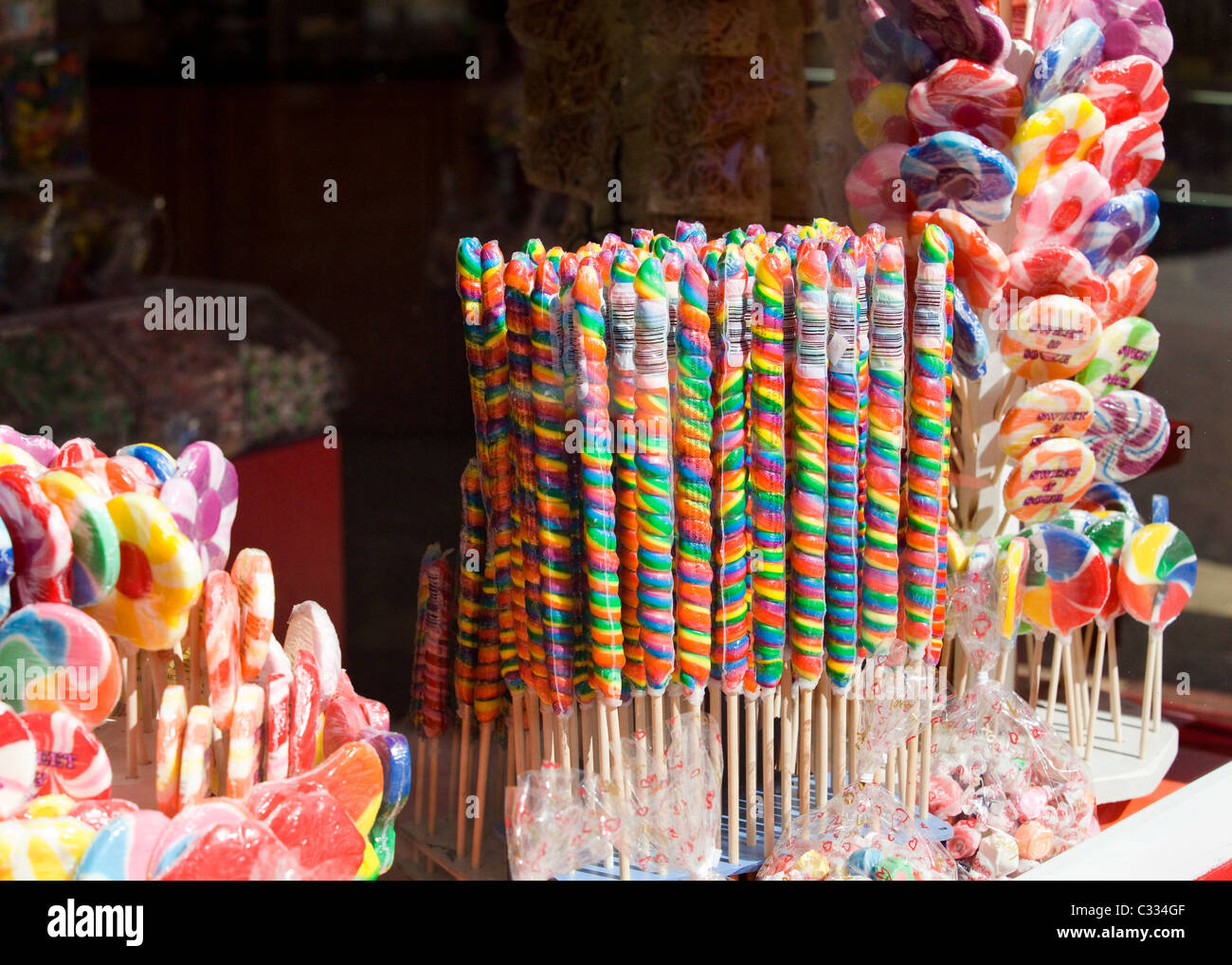 Candy Store-Display-Fenster Stockbild