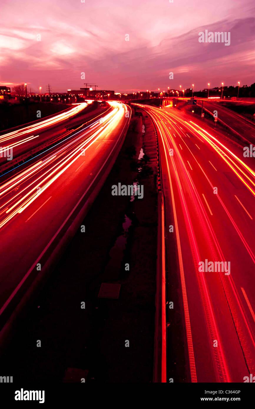Lichter in der Nacht Stockfoto