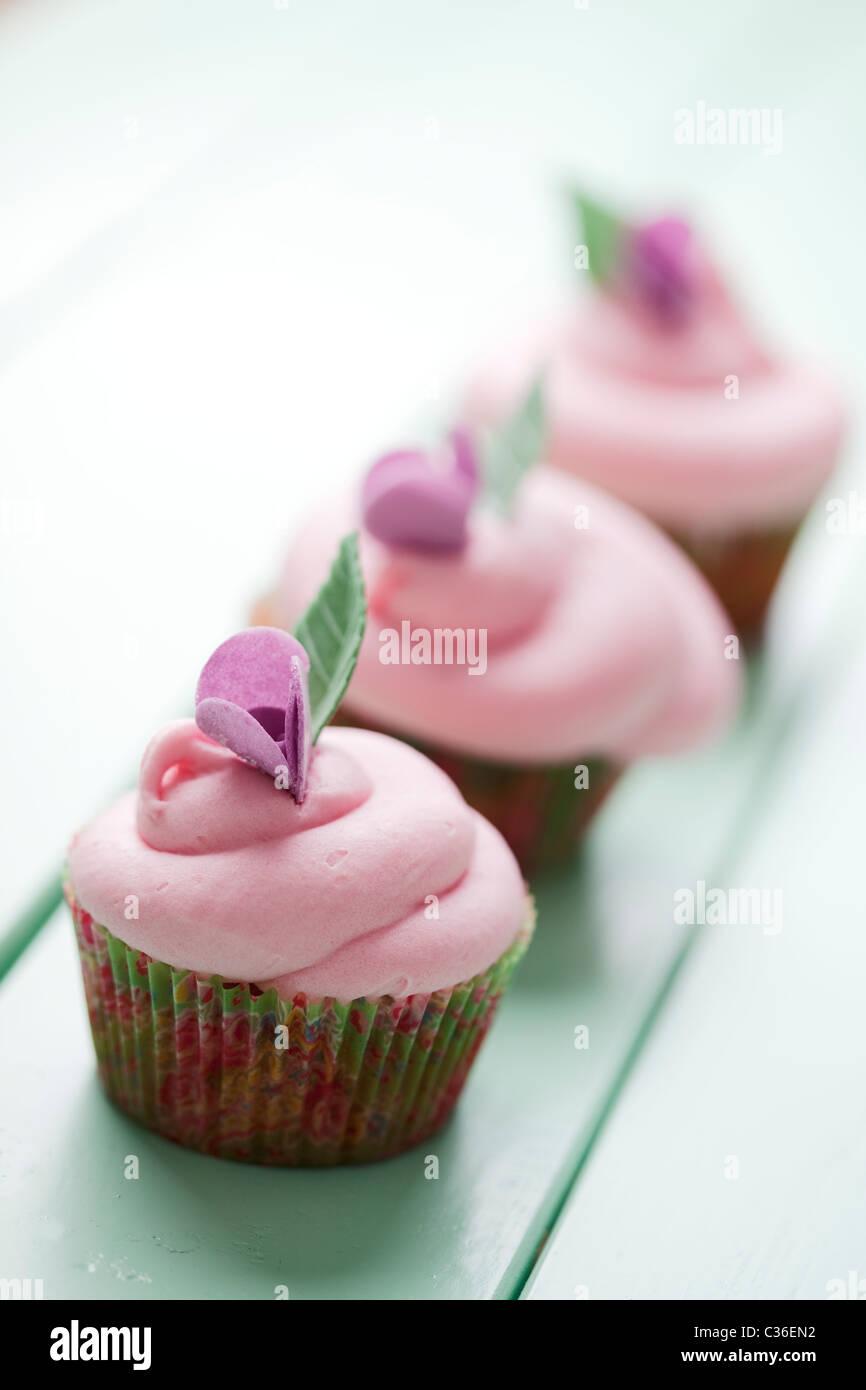Pastell cupcakes Stockbild
