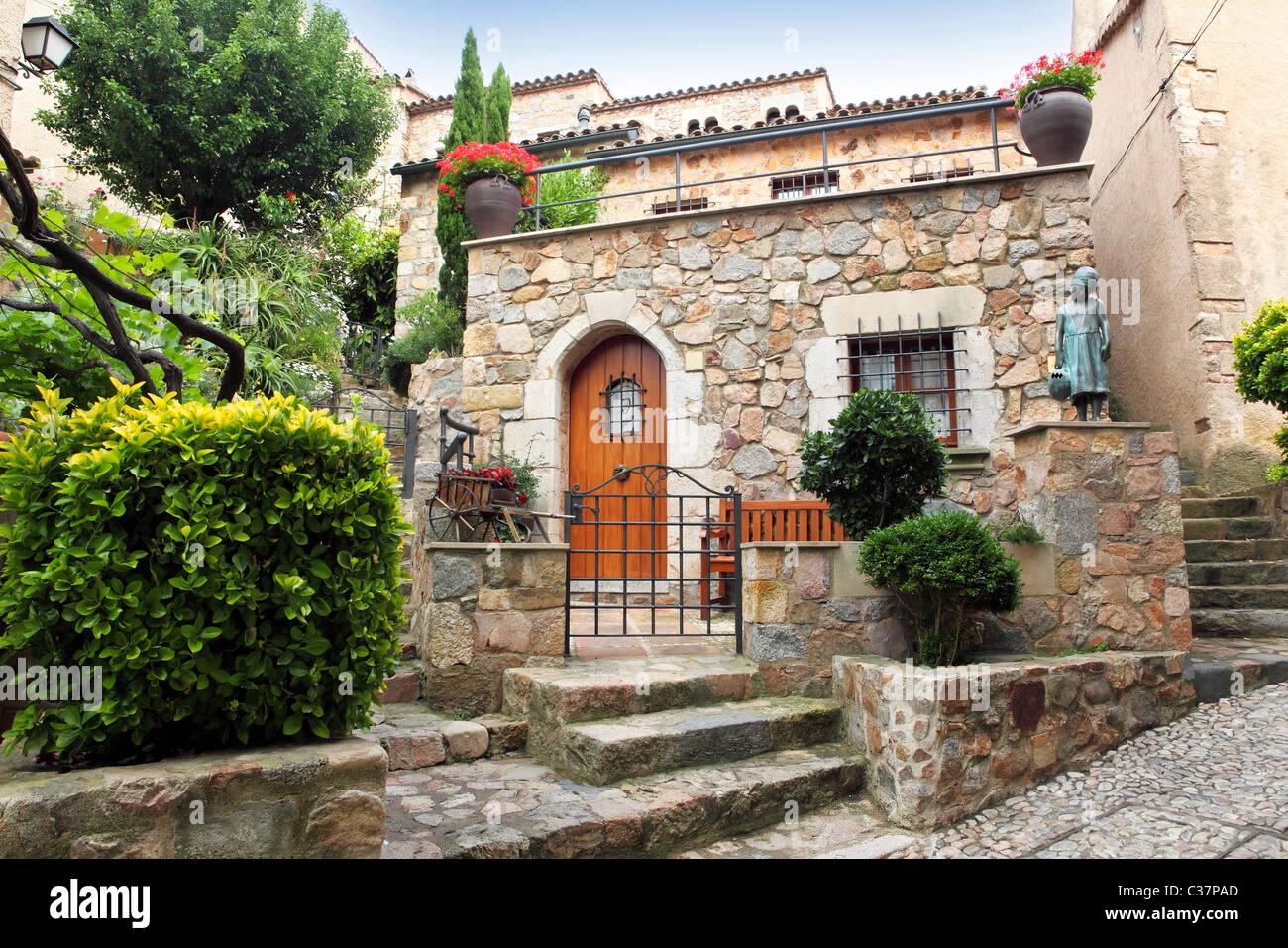 Mediterranen Stil Dekorierten Terrasse Stockfoto Bild 36435909 Alamy