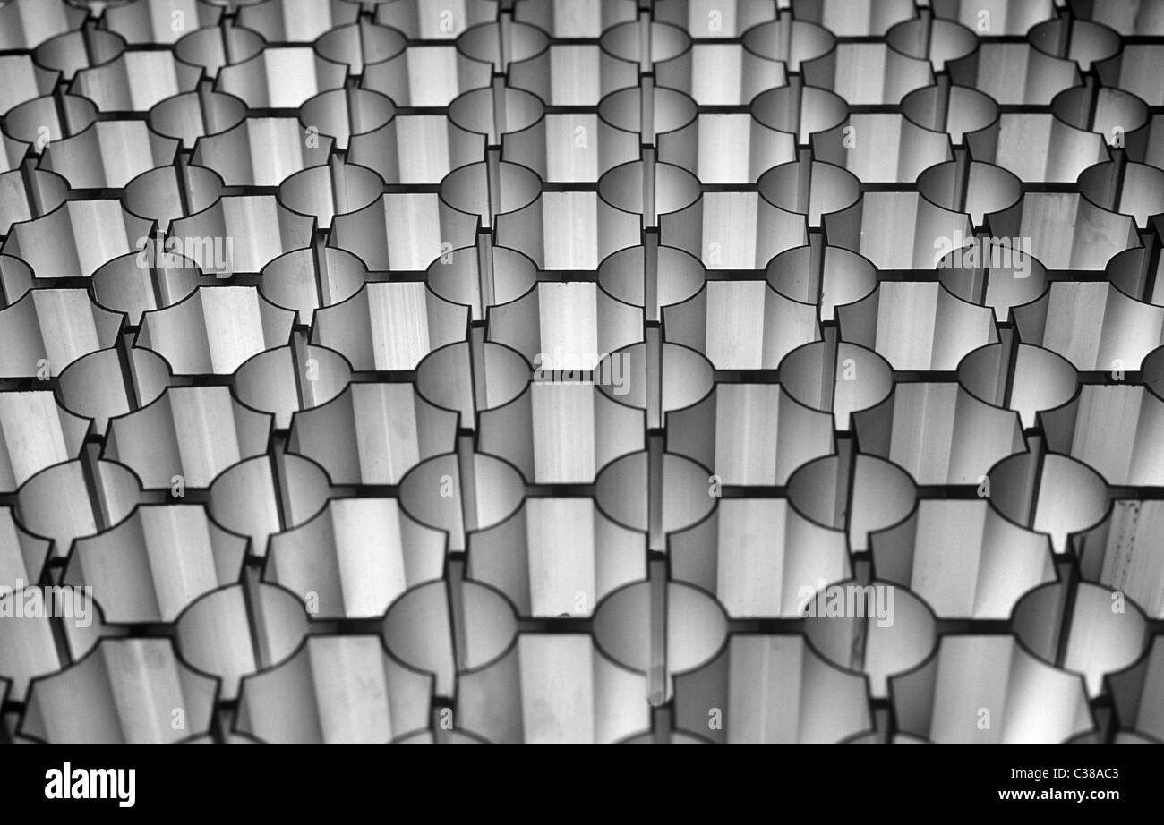 Aluminium-Muster. Stockbild