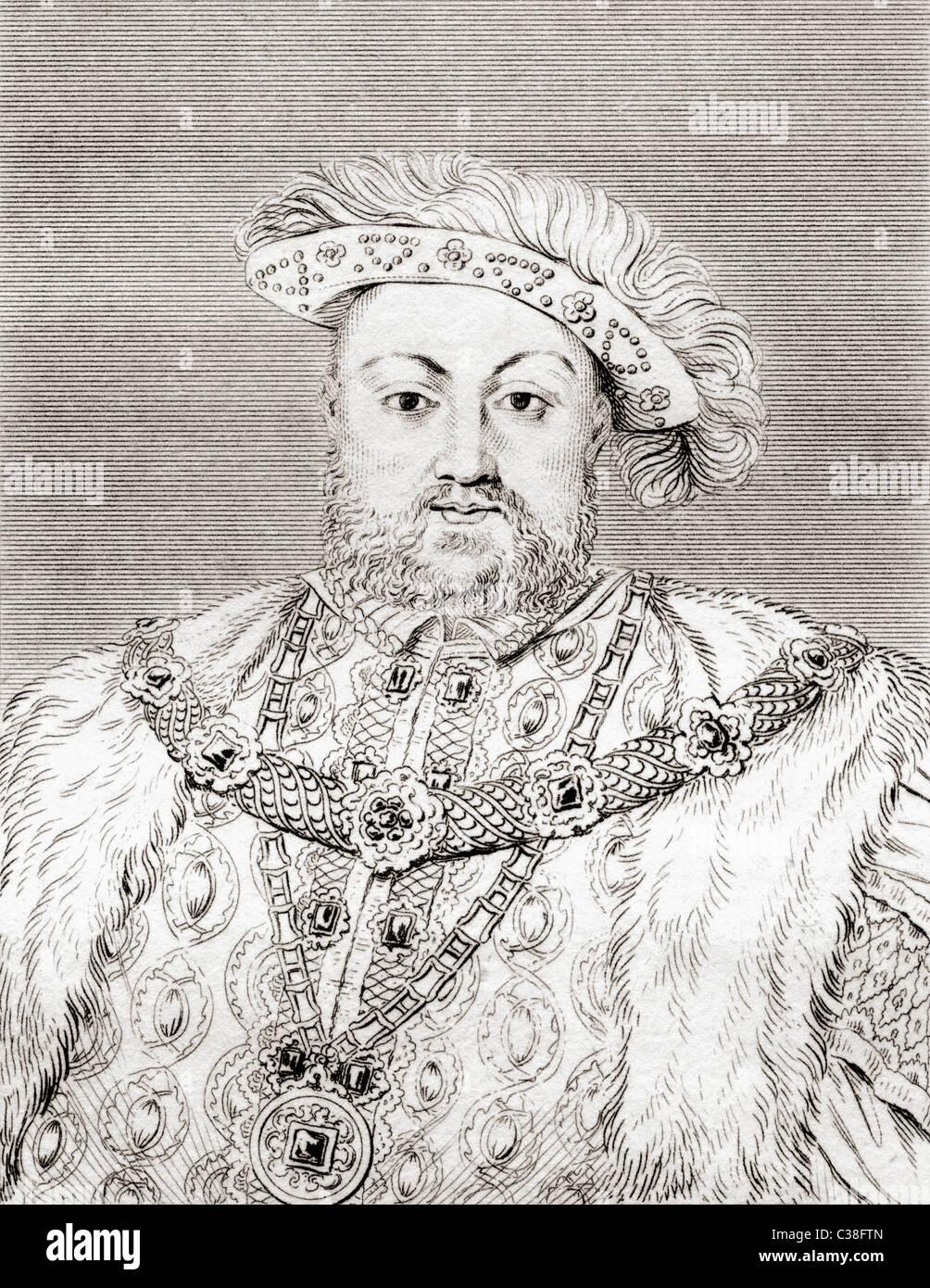 Heinrich VIII., 1491-1547. König von England. Stockfoto