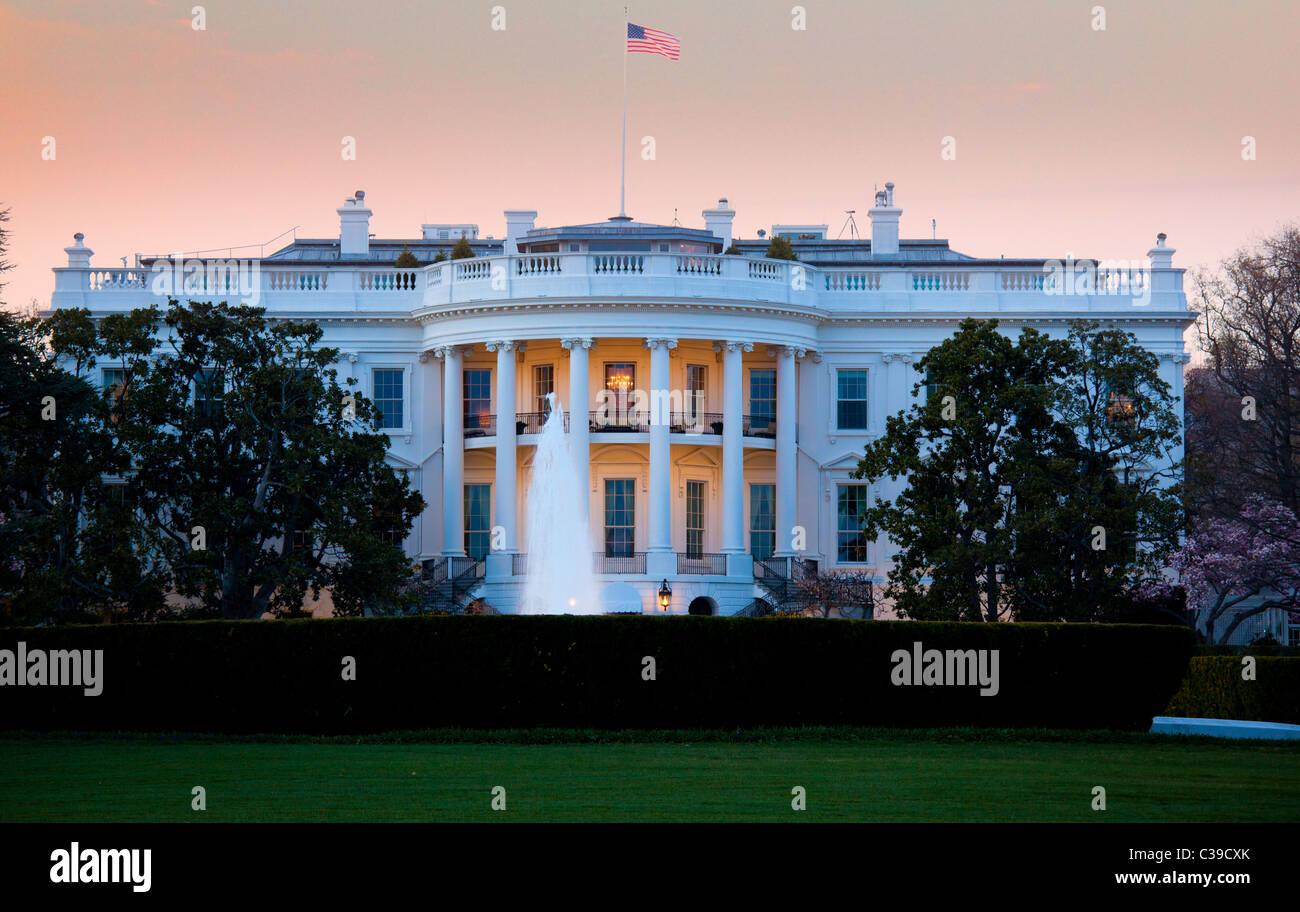 Residenz des US-Präsidenten auf 1600 Pennsylvania Avenue in Washington, DC Stockbild