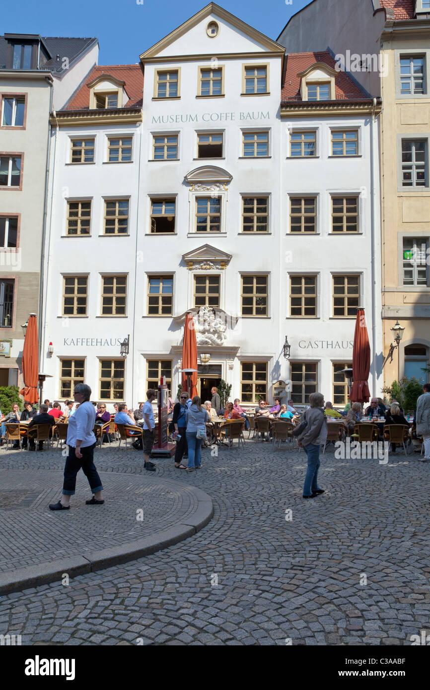 Zum Arabischen Coffe Baum, Café und Kaffee-Museum, Leipzig, Sachsen, Deutschland Stockbild