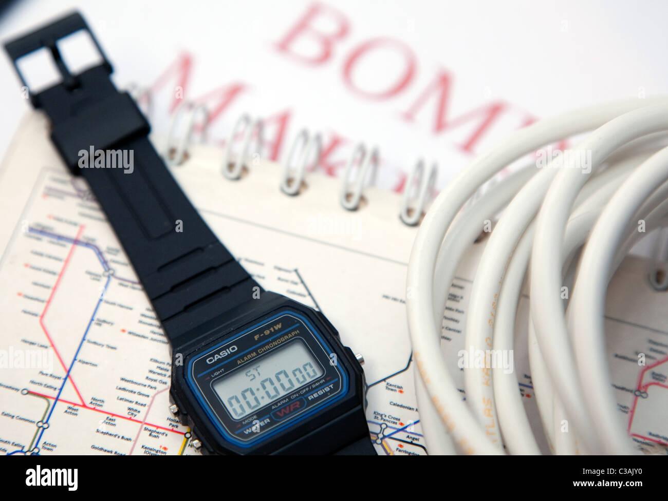 Casio F-91W-Armbanduhr Stockbild