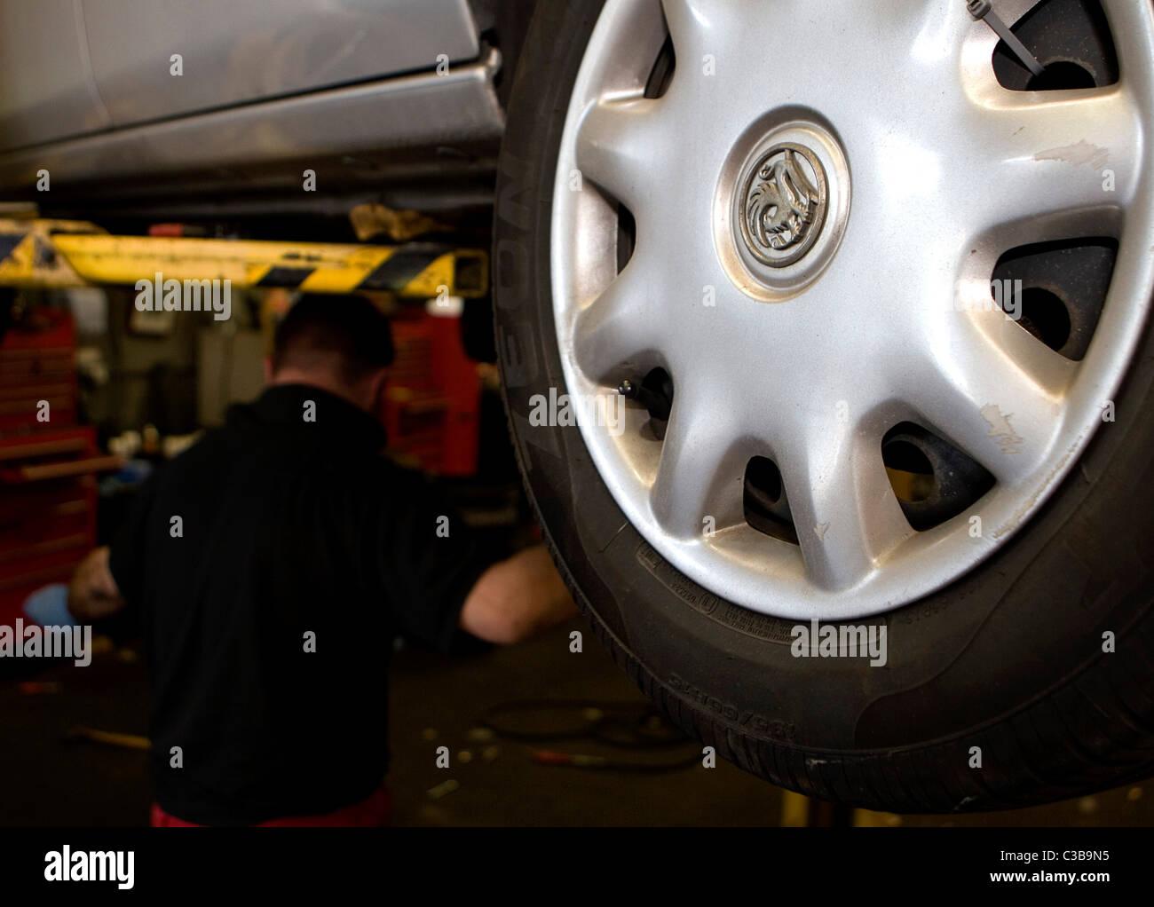 Anschauliches Bild von Vauxhall Autos, Teil des Konzerns General Motors. Stockbild