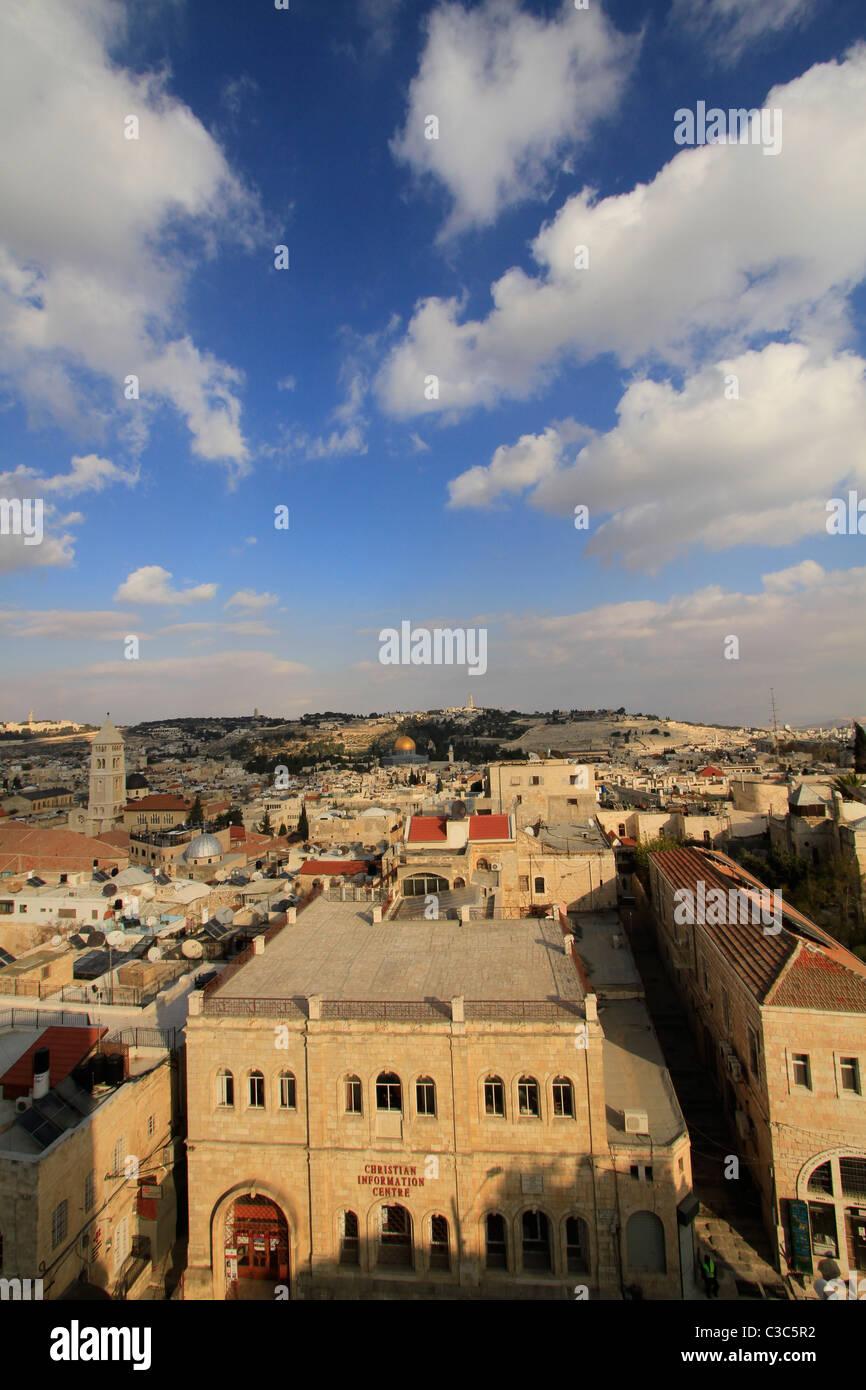 Israel, einen Blick auf die Altstadt von Jerusalem Stockbild