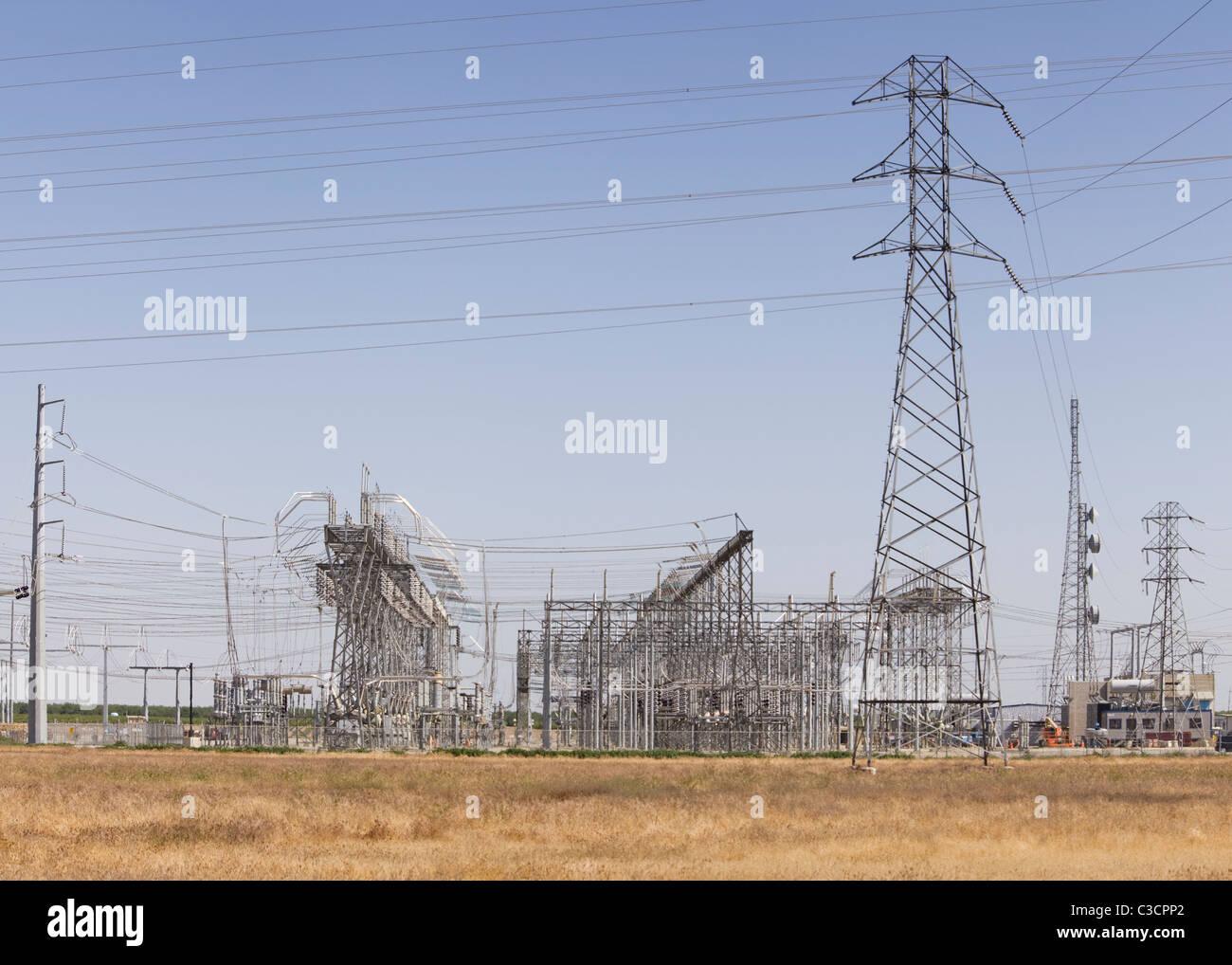 Elektrisches Umspannwerk - Kalifornien USA Stockbild