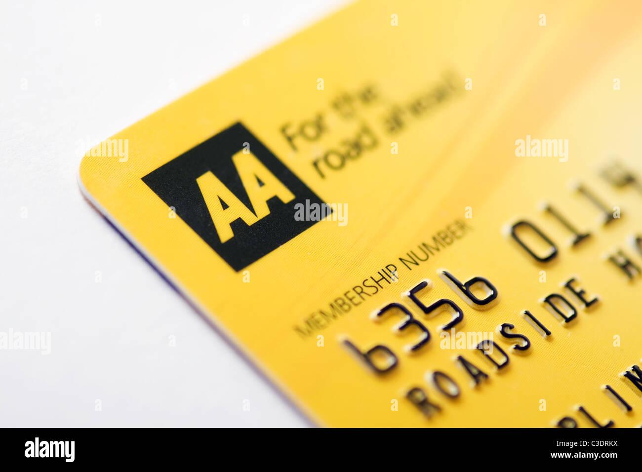 AA-Mitgliedskarte Stockbild