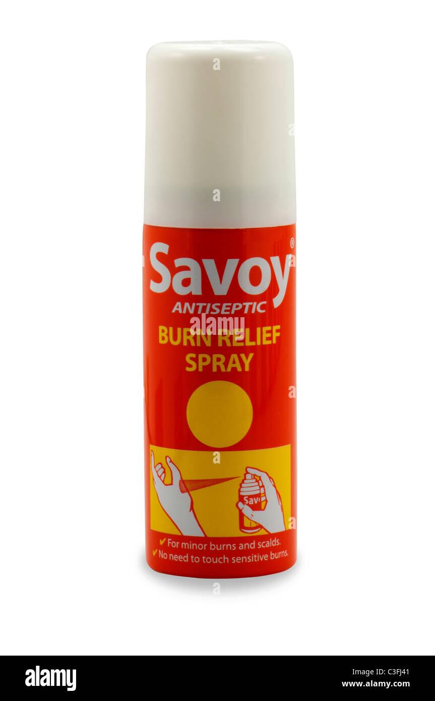Relief Spray antiseptische Juckreiz Schmerzlinderung zu verbrennen Stockbild