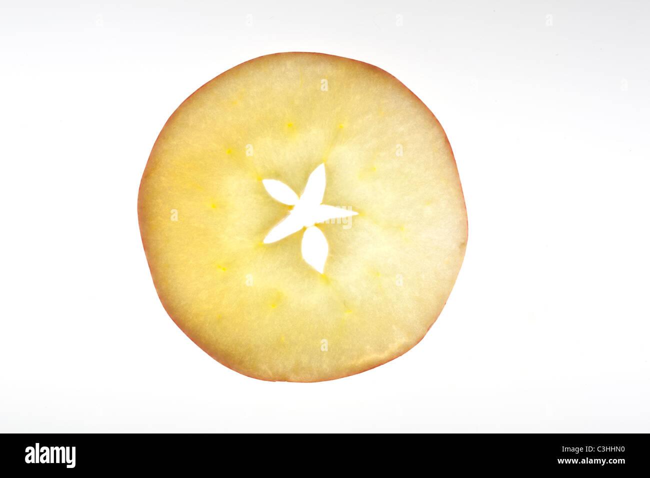 Runde Scheibe des Apfels Stockbild