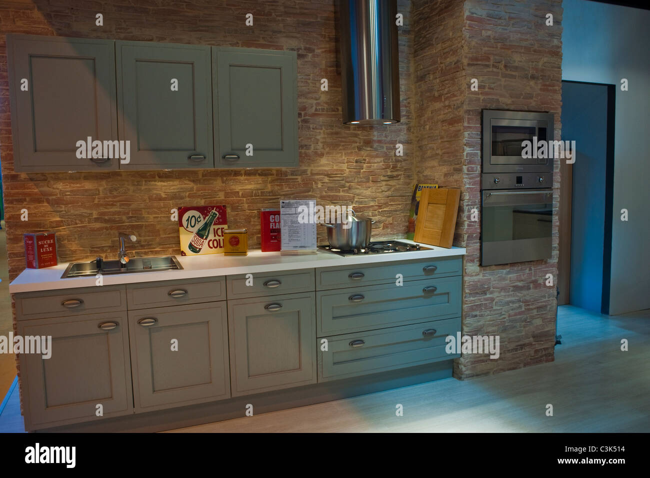 Paris, Frankreich, italienische Design Küche Interieur auf Messe ...