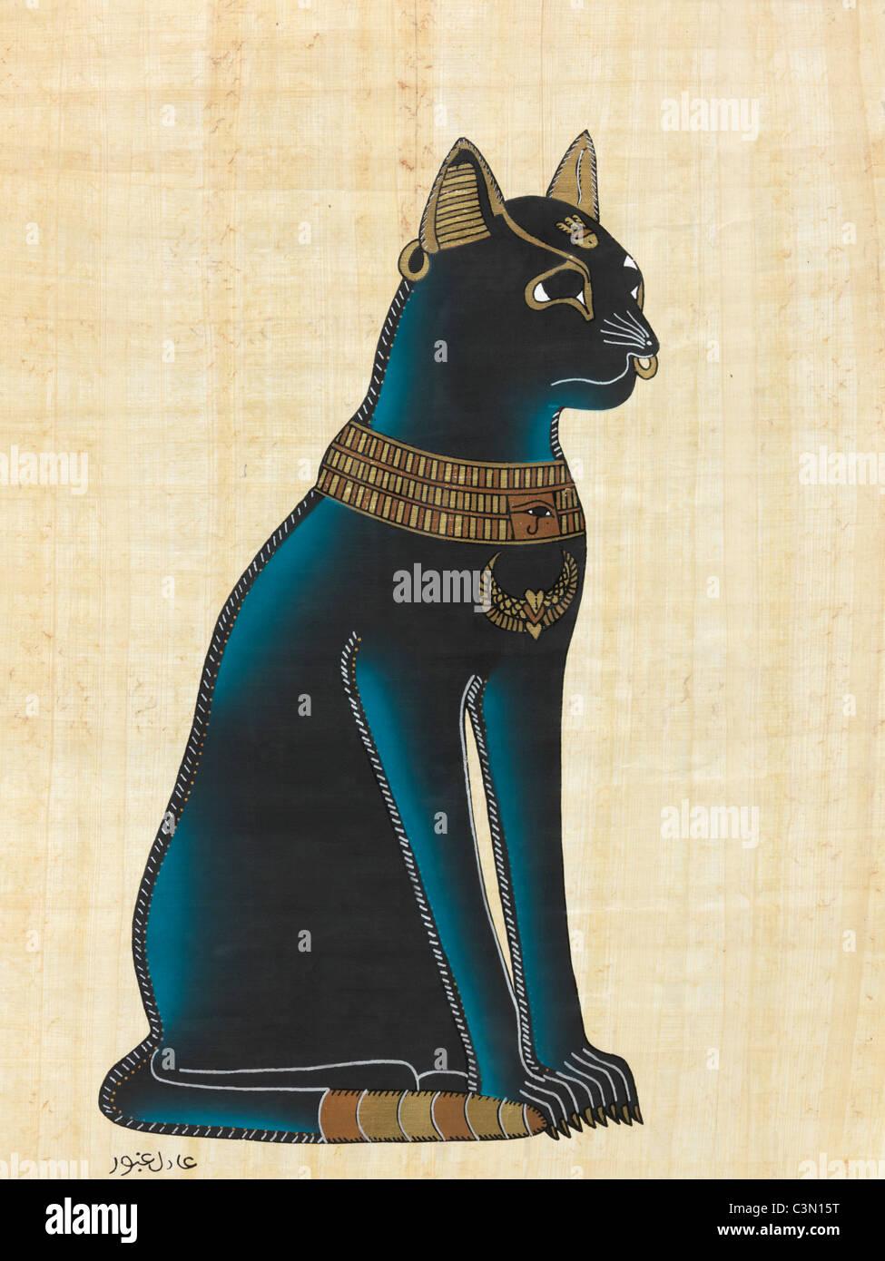 Ägyptische Katzengöttin Sekhmet stehend