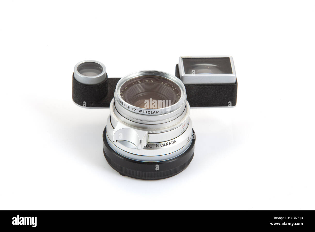 Mm f summicron mit fernglas für leica m kamera in silber