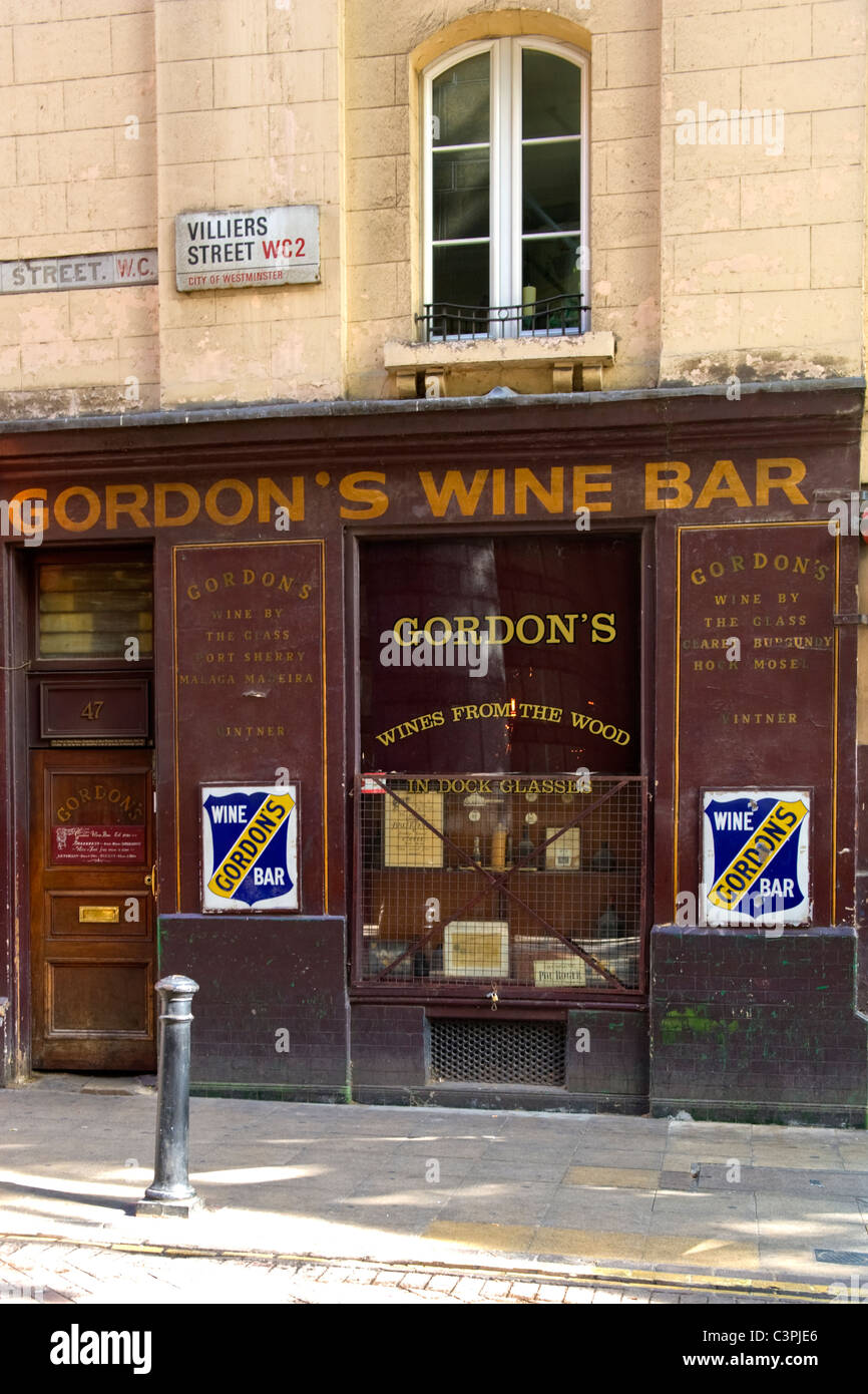 Villiers Street Wahrzeichen Traditionelle Gordon Wine Bar Est 1890