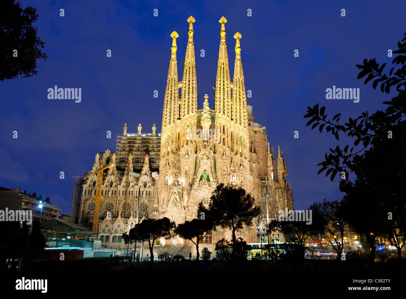 spanien katalonien barcelona die sagrada familia von architekt antonio gaudi als. Black Bedroom Furniture Sets. Home Design Ideas