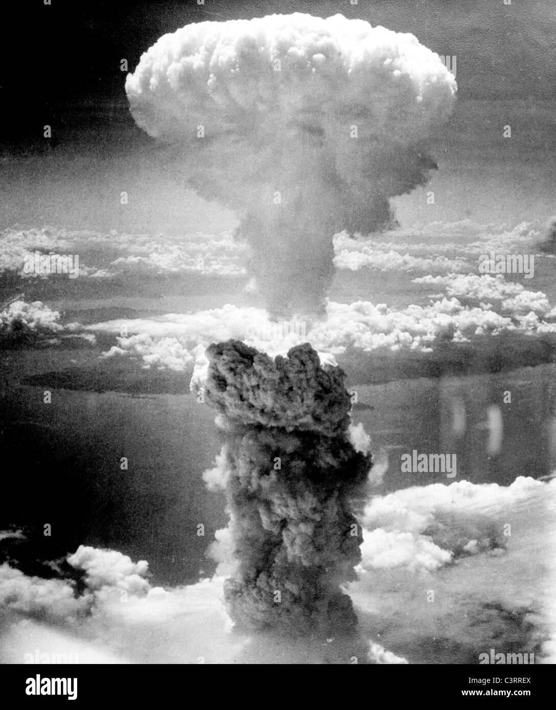 Atombombenabwurfs auf Nagasaki am 9. August 1945. Stockbild