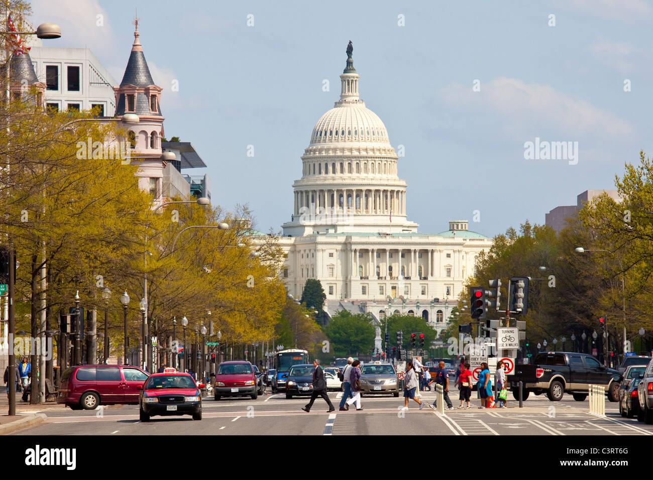 Kapitol, Washington DC Stockbild