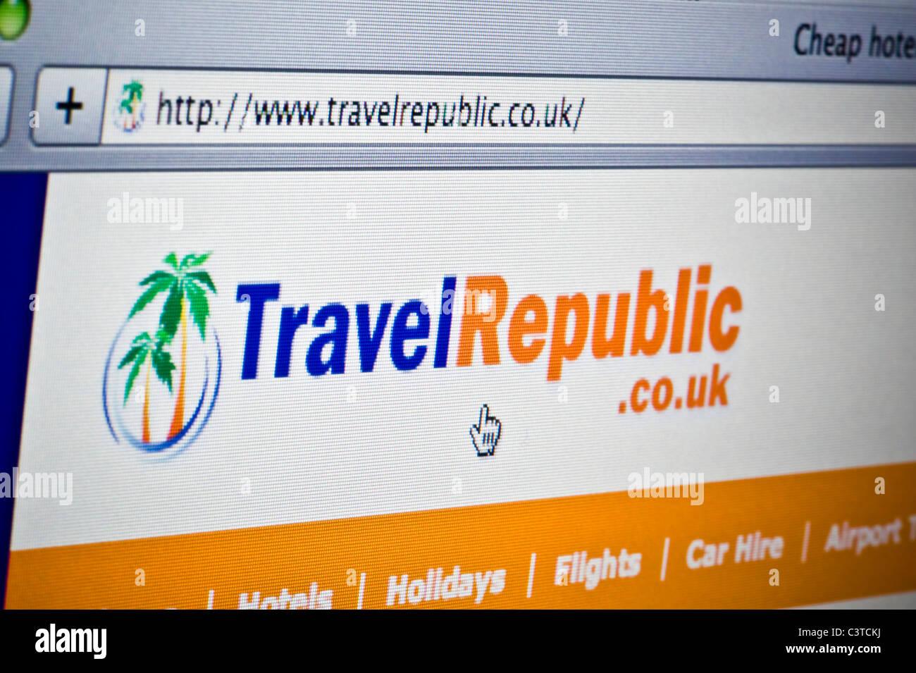 Nahaufnahme von Travel Republic Logo wie auf ihrer Website zu sehen. (Nur zur redaktionellen Verwendung: print, Stockbild