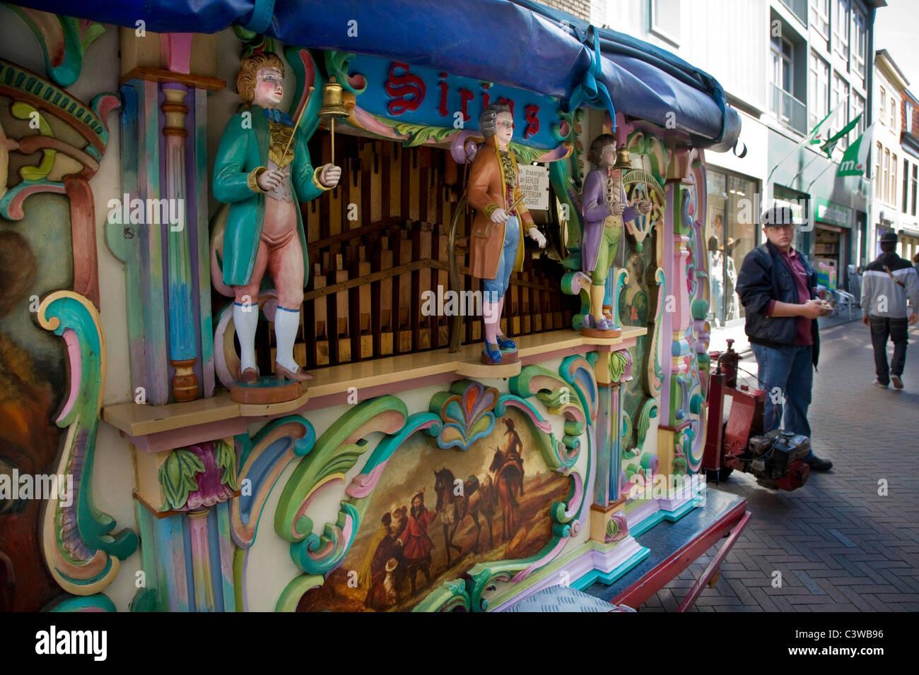 Dutch Straße Orgel in Lissewege, Belgien Stockbild