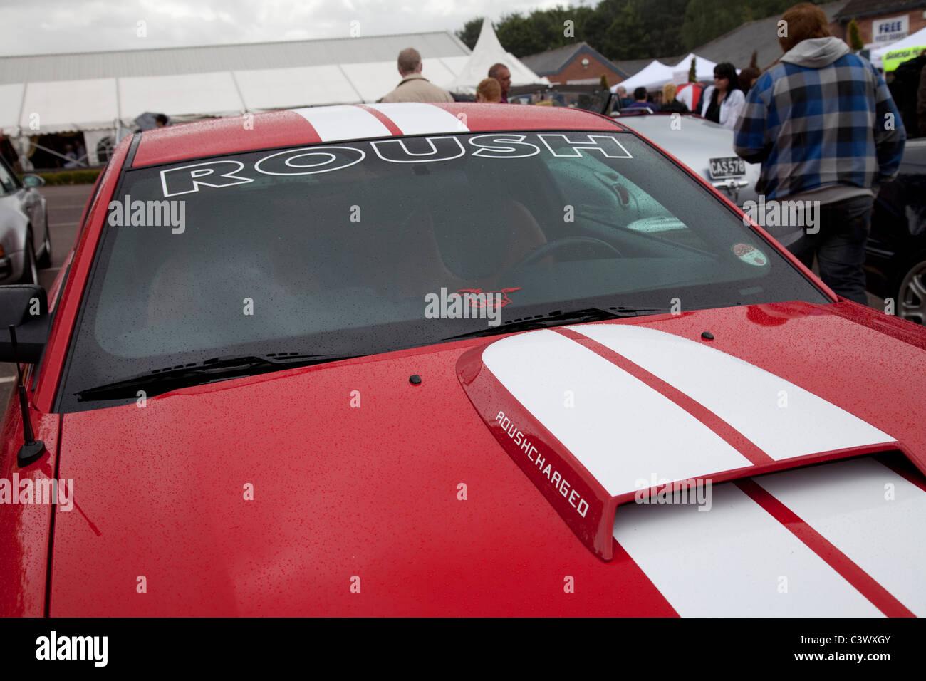Ein Roush abgestimmt Ford Mustang-Performance-Sportwagen England UK Stockbild
