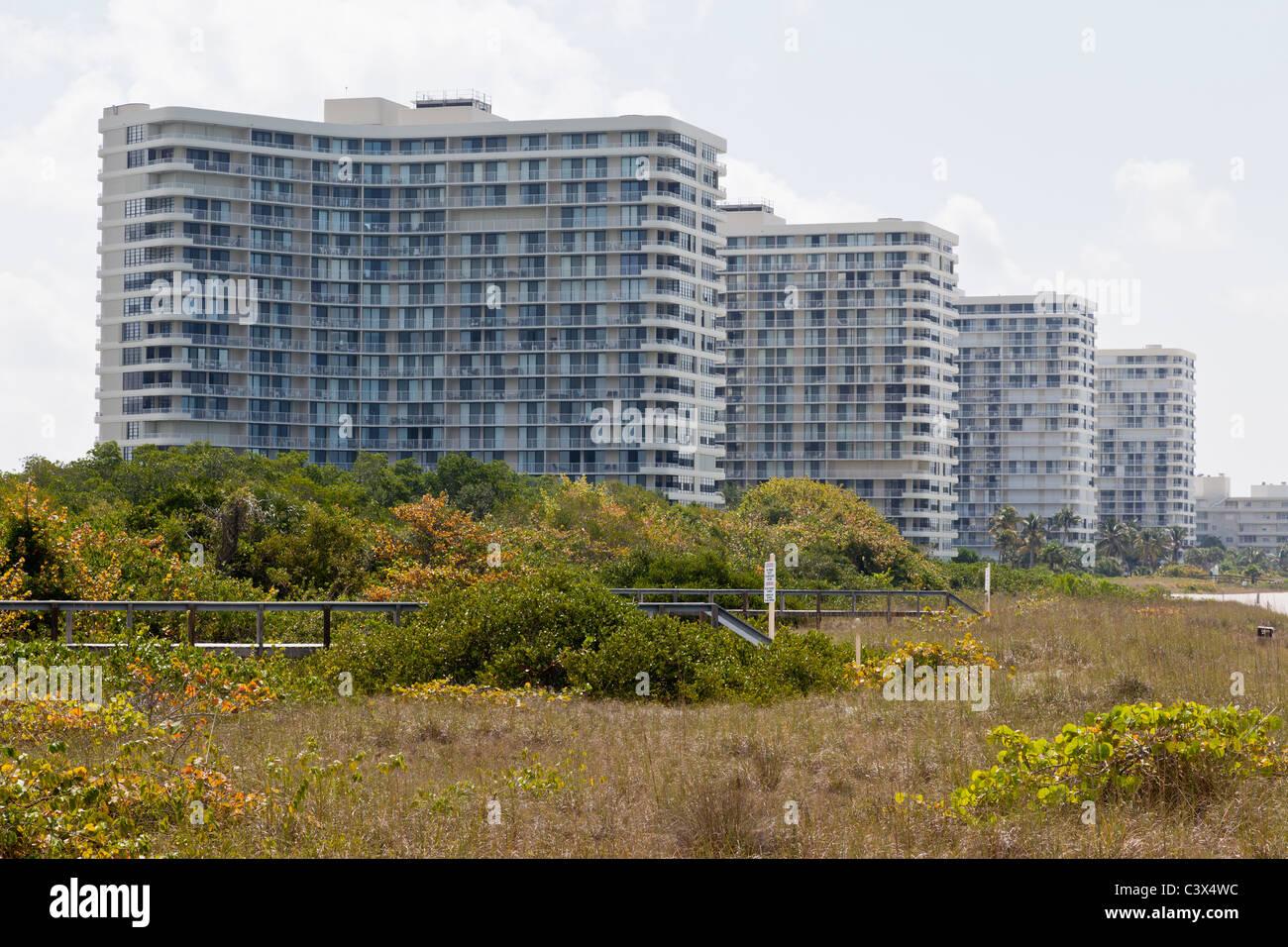 Am Strand Eigentumswohnungen, San Marco Island, Florida, USA Stockbild