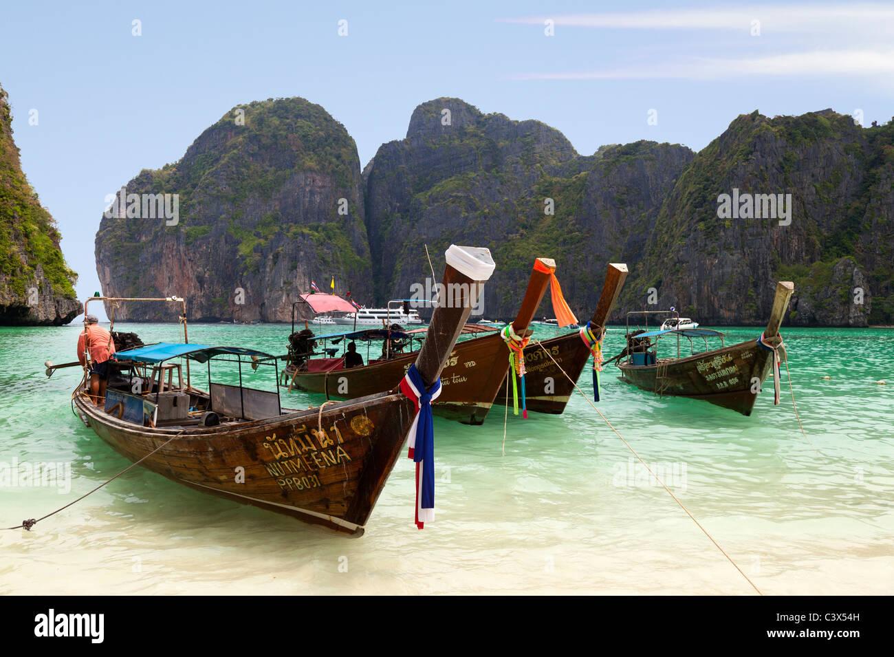 Insel Phi Phi, Phuket Thailand 6 Stockbild