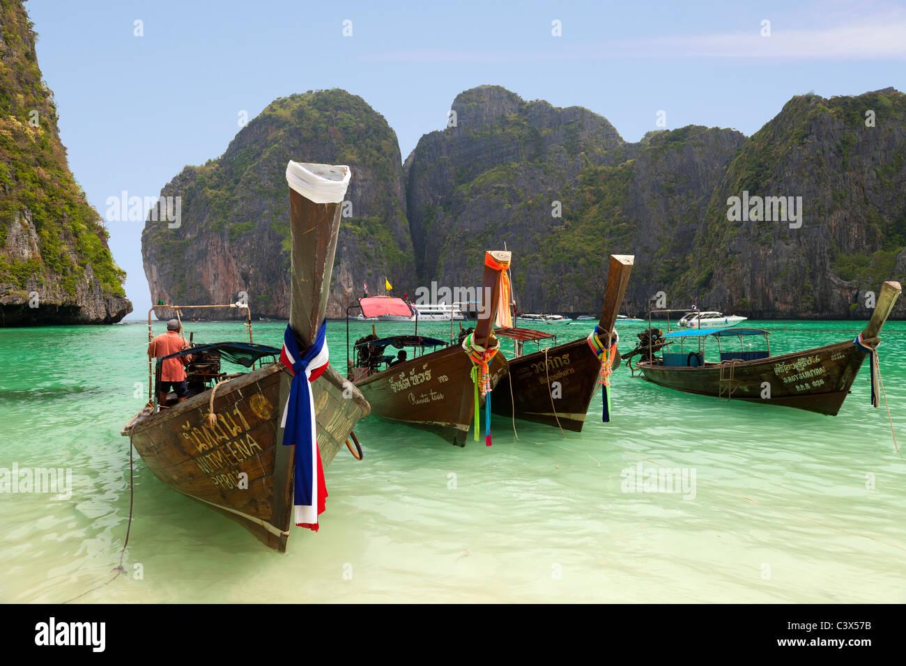 Insel Phi Phi, Phuket Thailand 4 Stockbild
