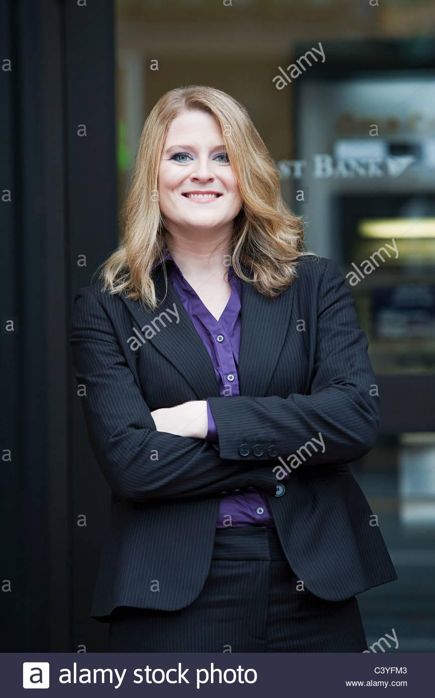 Bankangestellte, Bank, Porträt Stockbild