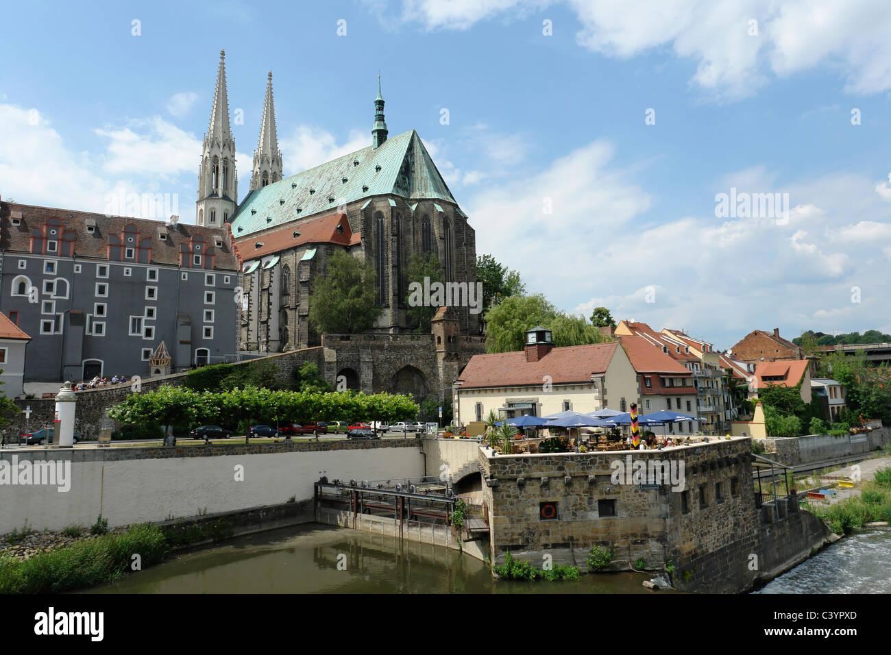 Deutschland, Europa, Sachsen, Görlitzer, Pfarrkirche, St. Peter und Paul, 1497, willow House, Vierradenmuhle, Stockbild