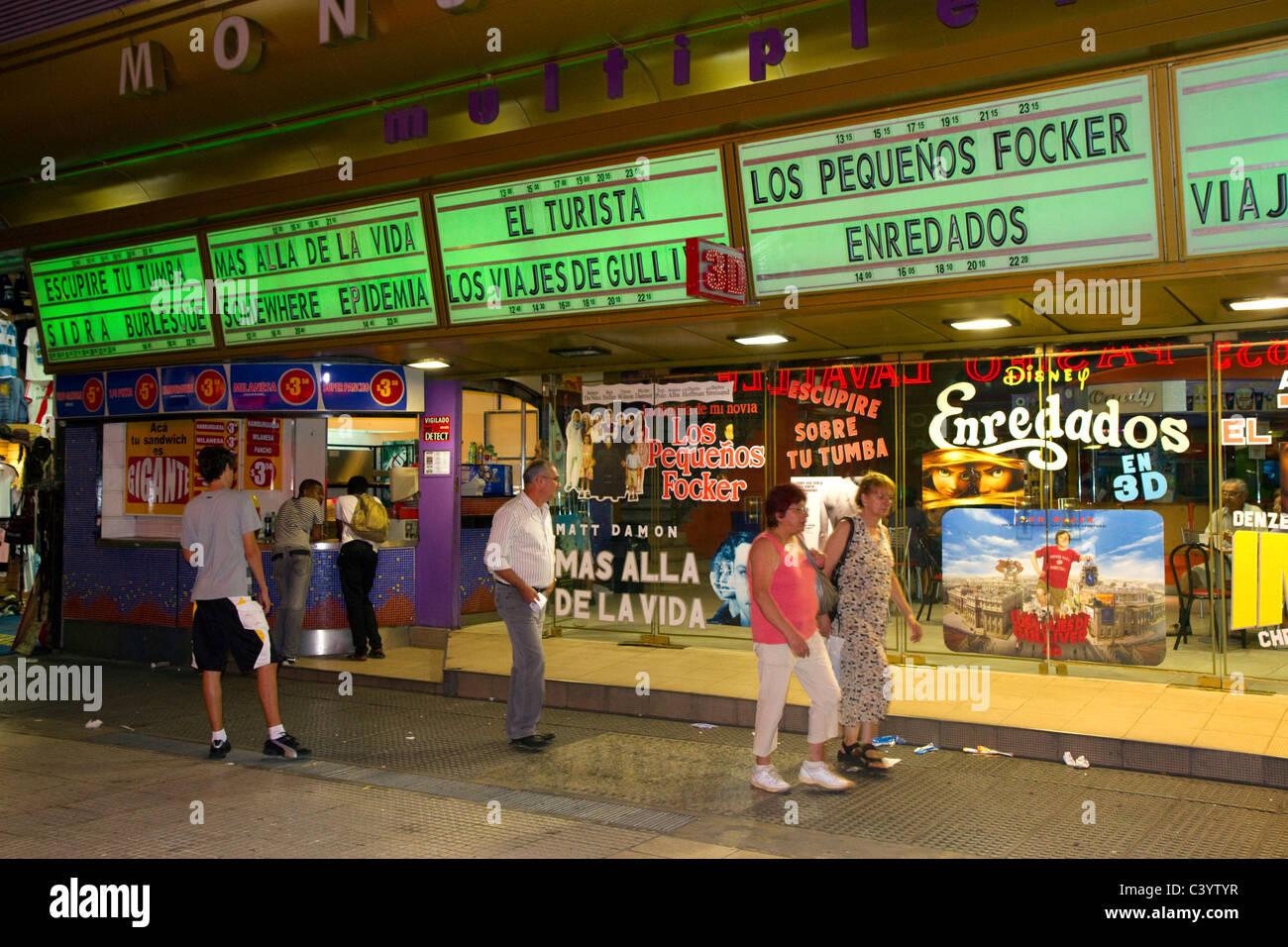 Kino in Buenos Aires, Argentinien. Stockbild