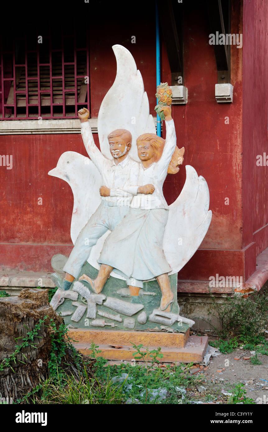 kommunistischen sozialistischen Statue in Phnom penh Stockbild